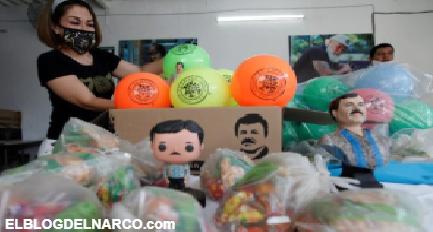 """VÍDEO Juguetes, dulces y figuras en miniatura, la hija del """"Chapo"""" volvió a hacerse presente en Guadalajara"""