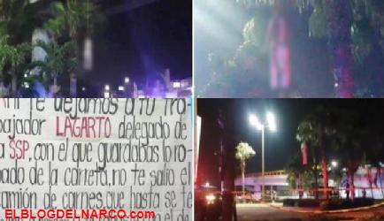 Cuelgan a hombre de puente en Coatzacoalcos y dejan Narcomensaje para el comandante Sierra