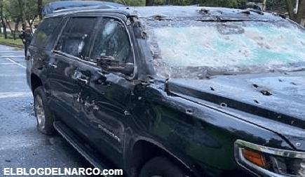 Omar García Harfuch es emboscado por Sicarios del CJNG con Barret .50 y sale ileso