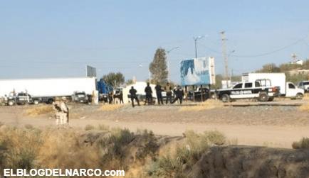 Sigue la Narcoguerra en Caborca, Sicarios dejan cuatros cuerpos con Narcomensaje en un camión