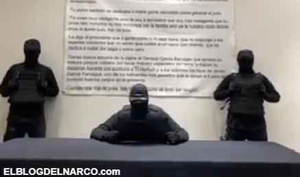 Video en donde sicarios encapuchados amenazan a Omar García Harfuch