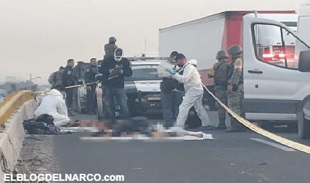 Fotos de Brazos, cabezas, piernas y torsos lanzado por sicarios en la carretera a México en SLP