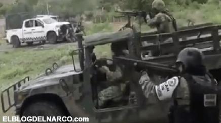 VIDEO El Mencho logra escapar de enfrentamiento entre CJNG con Soldados en Michoacán
