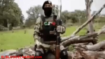 """Video donde el """"R2"""" líder del CJNG lanza amenazas con bazuca en mano en contra del Marro"""