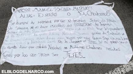 """Colocan Narcomanta para """"El Chatarras"""" el operador ejecutado del CDS en Ciudad de México"""