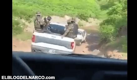 VIDEO Convoy de Pistoleros de Los Chapitos patrullando la sierra de Sinaloa