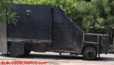 """CJNG embosca en Aguililla, Michoacán a FF, hay 2 sicarios abatidos y un """"Poderoso Monstruo Blindado"""" Asegurado"""