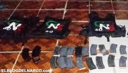 FOTOS Decomisan Gente Nueva de los Salazar armas y equipo táctico en Guanajuato
