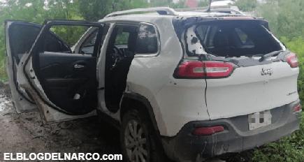 Sicarios del CDN agreden a Policías en Anáhuac, los Sicarios corrieron y abandonaron las trocas