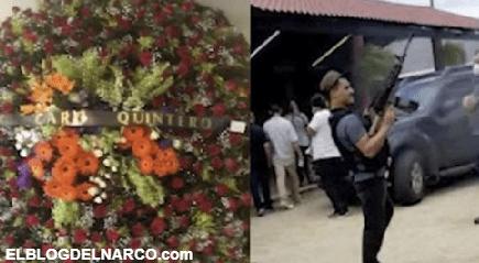 """VIDEO: Así fue el Funeral de """"El Mono"""", disparos al aire y una Corona de Flores de su tío Caro Quintero"""