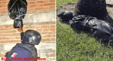 Adornos de decapitados para Halloween provocaron indignación en las zonas dominadas por el narco