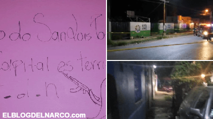 FOTOS Cártel del Noreste se adjudica con narcomanta cinco ejecutados en San Luis Potosí