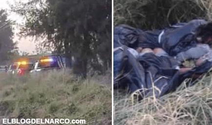 FOTOS Así dejaron a cinco víctimas de narcoguerra en Guanajuato, 2 eran mujeres