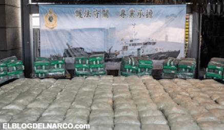 Hong Kong incauta récord de metanfetamina procedente de México, con valor de 38.6 mdd