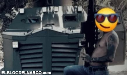 Sicario del Cártel Jalisco Nueva Generación posa con poderosa arma y troca monstruo (FOTOS)