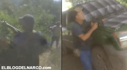 VIDEO Los Viagras despliegan a sus Narcodefensas y piden ayuda al Gobierno para combatir al CJNG