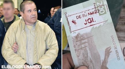 """Así llegaron a los cajeros automáticos os billetes con las iniciales del """"Chapo"""" y por qué son válidos"""
