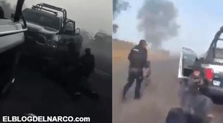 El momento exacto del artero ataque de sicarios del C.J.N.G a las fuerzas armadas en Michoacán