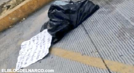 FOTOS Unión Tepito amenaza al CJNG y otros cárteles con descuartizado y narcomensaje