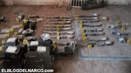 Golpe al Mencho, decomisados, fusiles, granadas, escopetas y vehículos del CJNG