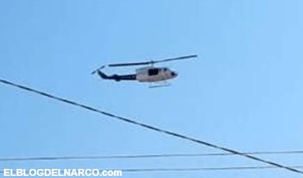 Grupo armado ataca helicóptero en Morelos; hieren a policía