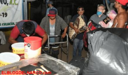 """""""Los Chapitos"""" regalan despensas a ancianos en el asilo El Buen Samaritano"""