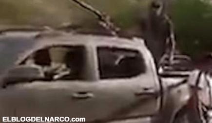 Se registra desplazamiento de convoy del narco hacia El Aguaje, Aguililla