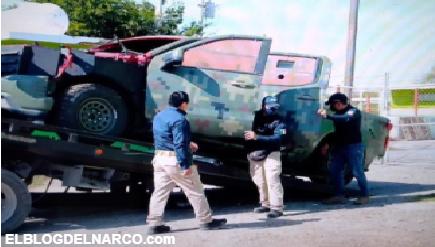 Decomisan en Tamaulipas a Sicarios camioneta clonada de la SEDENA (FOTOS)