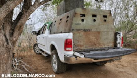 FOTOS Decomisan 6 vehículos con blindaje artesanal al Cartel del Golfo