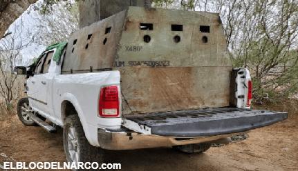 Fotos de los seis camiones monstruo blindados que le quitaron al Cártel del Golfo en Tamaulipas