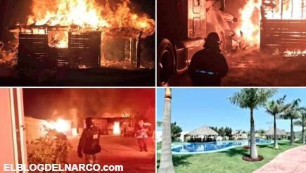 """Qué hay detrás del incendio en la mansión con albercas y túneles del """"Marro"""", ex líder del CSRL"""