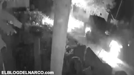 VIDEO Así explotó el monstruo blindado con todo y Sicarios dentro del CJNG en Michoacán