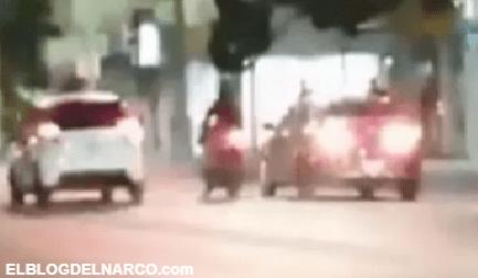 Así captaron el ataque de Sicarios a Agentes Federales en pleno centro de Culiacán, Sinaloa (VIDEO)