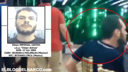Captan en video a Eliseo Imperial Castro, alias el Cheyo Ántrax en narcofiesta