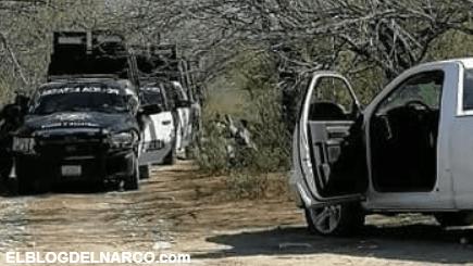 Cuazitos del Cártel del Noreste atacan convoy de Estatales; Aseguran vehículo y armamento