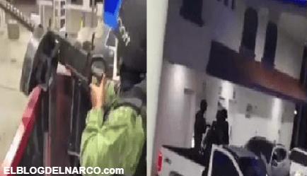Sicarios del Mayo Zambada escuchando sus corriditos mientras tranquilamente cargan gasolina (VIDEO)