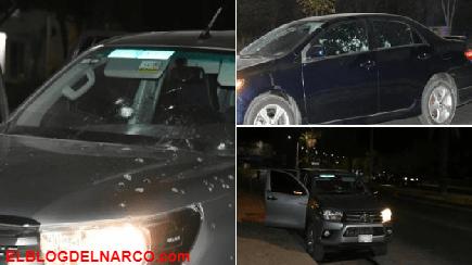 """Persecución y balacera en territorio del Mayo deja trocas baleadas y 3 """"levantados"""" (FOTOS)"""