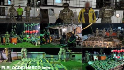 Va a ver pedo por no Coronar, MARINOS aseguran mil 583 kilos de Cocaína en Nayarit