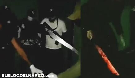 Video brutal donde sicarios del CJNG graban decapitación y abandonan cadáver en León