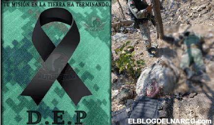 Así quedaron los Soldados muertos y heridos tras emboscada de Sicarios en Michoacán