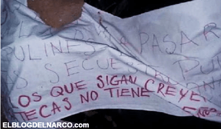 CJNG abandona en Zacatecas a 2 decapitados con un Narcomensaje