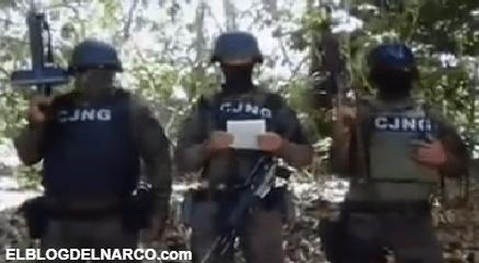 VIDEO Sicarios mediante Comunicado, El Mencho negó intervenir en elecciones
