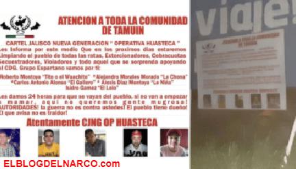 CJNG amenaza con una limpia en San Luis Potosí a días del hallazgo de 9 cadáveres