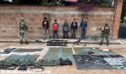 Detienen a cinco sicarios que se enfrentaron a Soldados en el Estado de México