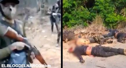 VIDEO Así se grabaron 15 Sicarios del CDS y así quedaron minutos después de ser emboscados y ejecutados por la contra