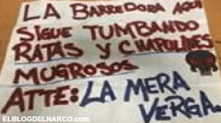 Detienen integrante del CJNG en Tijuana, con narcomanta y un arma (FOTOS)