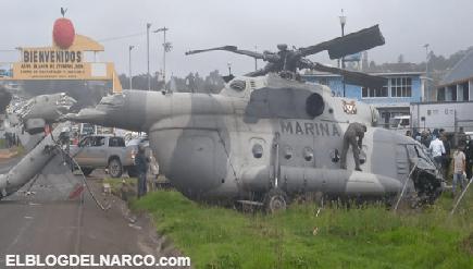 VIDEO Este es el momento del desplome del helicóptero de la Marina en Hidalgo