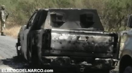 Así quedaron las blindadas y monstruos huellas de la batalla tras enfrentamientos entre Sicarios en Tamaulipas
