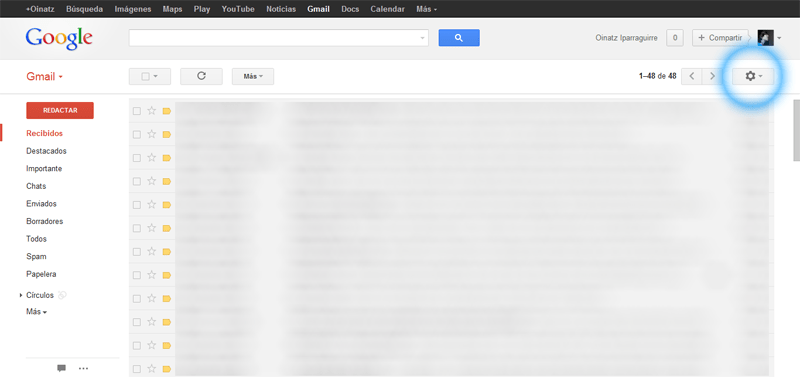 Cómo configurar la delegación del correo electrónico en Gmail (3/6)