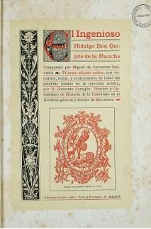 """Lehenengo argitalpen kritiko espainiarra, 1674 Iturria: """"Kixoteren irudi-bankua www.qbi2005.com"""""""